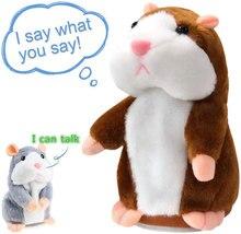 Yeni Talking Hamster fare Pet peluş oyuncak sıcak sevimli konuşmak Talking ses kayıt Hamster eğitici oyuncak çocuk hediyeler için 15 cm