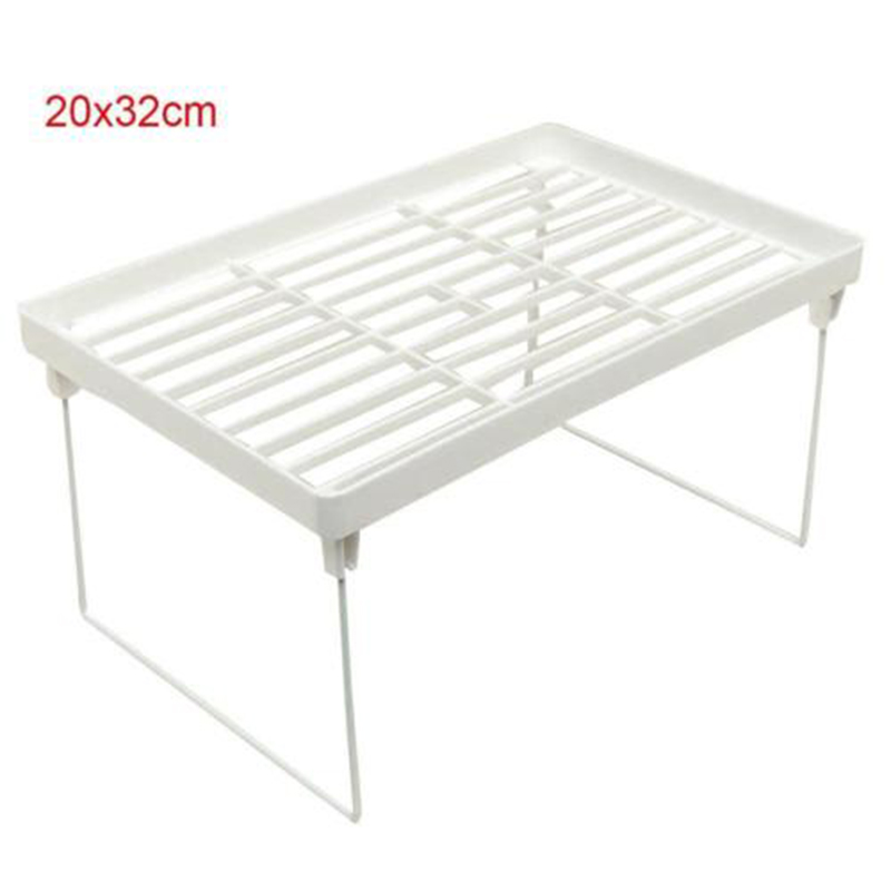 1 X Foldable Shelf Kitchen Cabinet Storage Stackable Cupboard Rack Organizer New