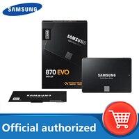 SAMSUNG-disco duro interno de estado sólido SSD 870 EVO, 500TB, 250GB, 1TB, 2TB, SATA3, carcasa de HDD de 2,5 pulgadas, para ordenador portátil y de escritorio, TLC