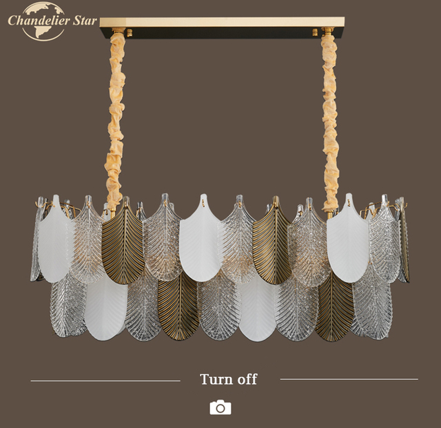 Современные стеклянные люстры в скандинавском стиле Роскошные