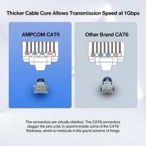 Image 3 - AMPCOM CAT6 RJ45 مقبس تركيبي موصل UTP 50U مطلية بالذهب 8P8C تجعيد نهاية لكابل إيثرنت ، كابلات الموصلات إيثرنت السائبة
