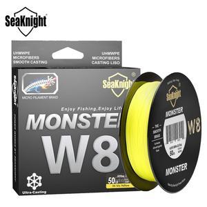 Image 1 - Seaknight marca ms w8 série 8 fios 500m ultra fundição trança linha de pesca suave super linha multifilamento pe linha 15 100lbs