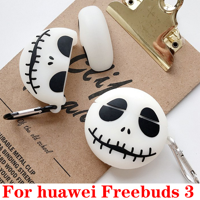 For Huawei Freebuds 3 Funny Cartoon Luminous Earphone Cover Headphone Case For Huawei Freebuds3 Case Silicone Protect Case Coque