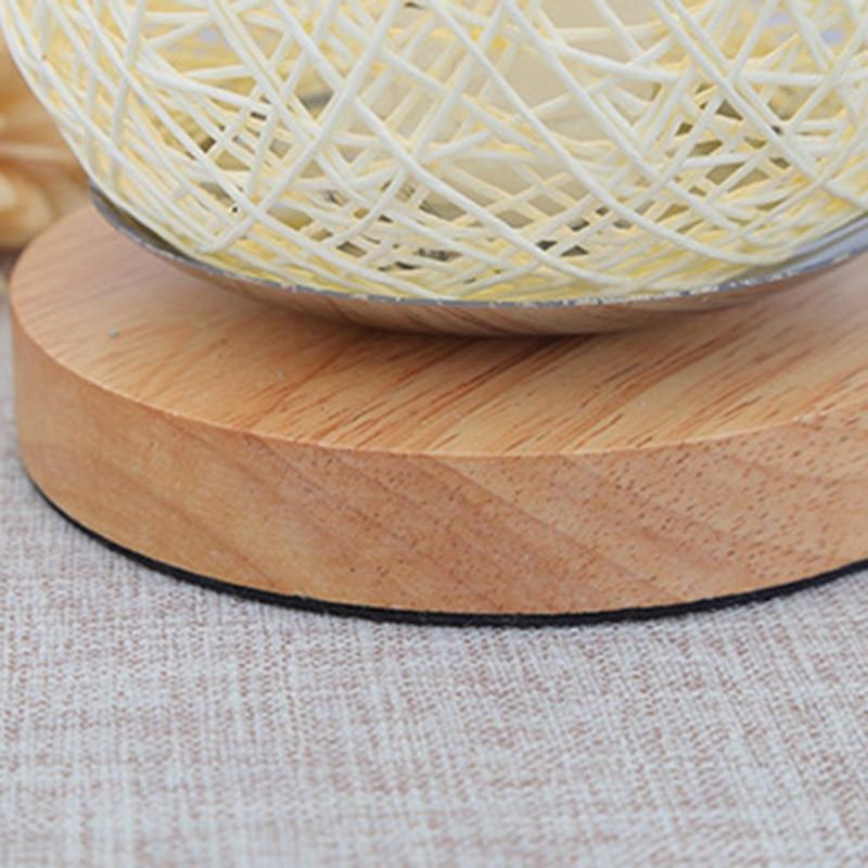Usb led candeeiros de mesa de madeira
