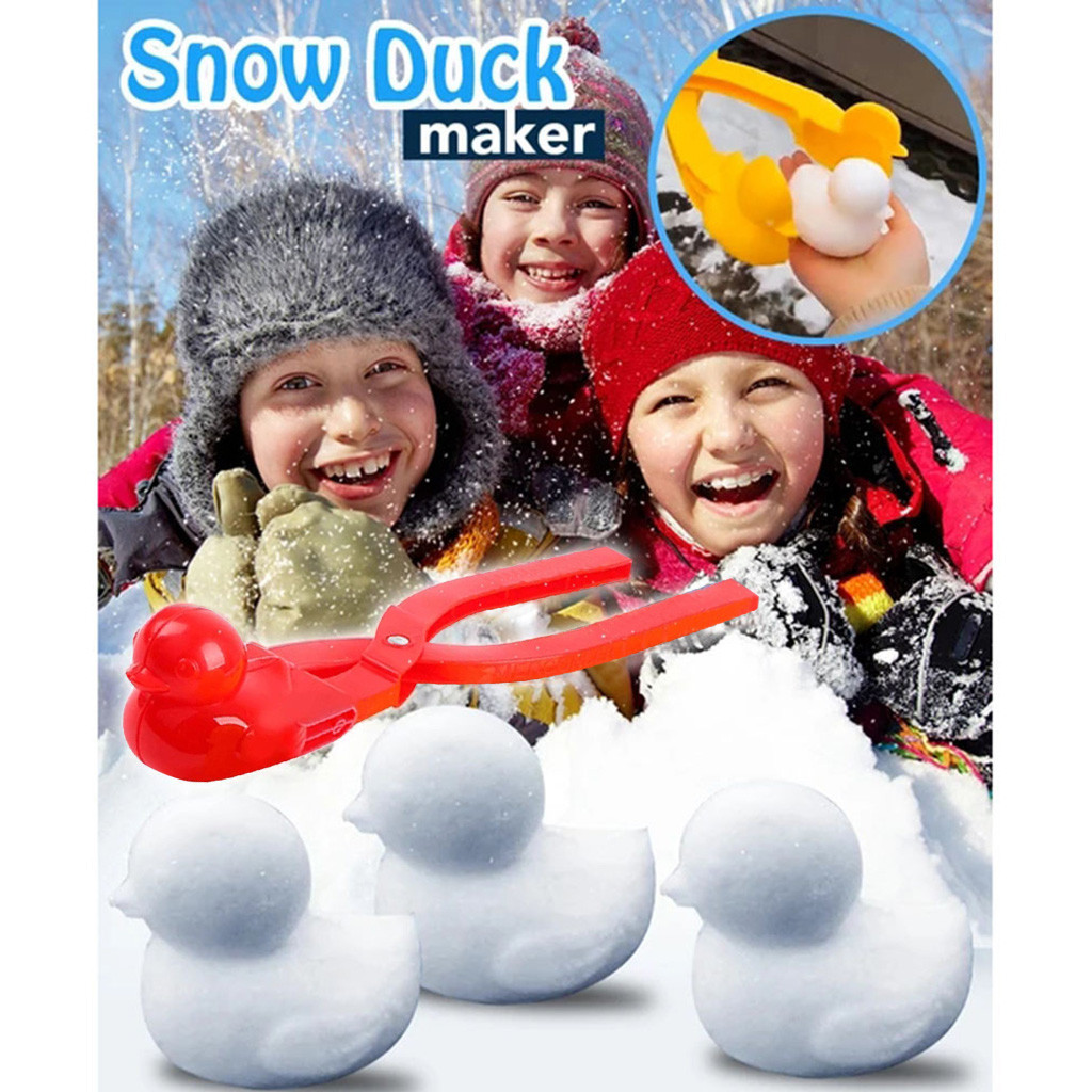 Cartoon Duck Shaped Snowball Maker Clip Children Outdoor Winter Snow Sand Mold Tool Creative Outdoor Fun & Sports Beach Kids