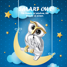 XiaoJing 925 sterling silver fashion Cute Animal Owl beads charms fit original pandora bracelets jewelry For Mother's Day gifts sg 925 sterling silver cute cock charms beads animal collection fit original pandora bracelet pendant fashion jewelry for gifts