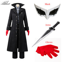 Anime Persona 5 Cosplay P5 Joker Kostuum Jas Ren Amamiya Complete Set Akira Kurusu Uniform Outfit Voor Halloween Party(China)