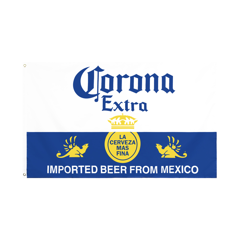 Темно-желтый и белый корона WN 60x90 90x150 см, дополнительный флаг для украшения пива
