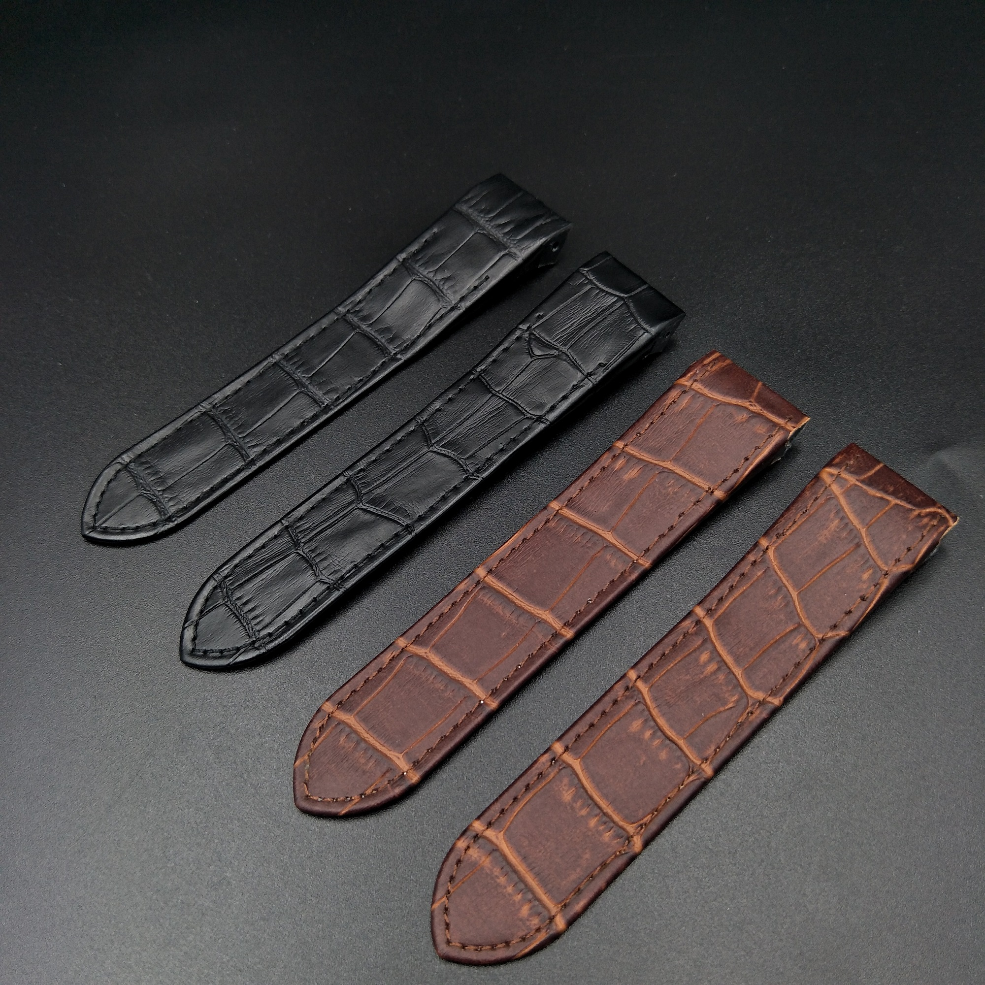 Genuine Leather Watch band for Cartier Santos 20mm 23mm Cow Leather Watch Strap