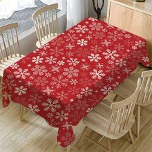40#Christmas Decoration Table Cloth Rectangular Tea Table Cover Dining Home Decor Tablecloth Tropical Banana Leaf Waterproof(China)