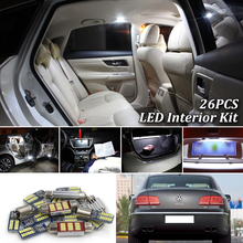 26 шт белые светодиодные с canbus автомобильные Внутренние огни Комплект для Volkswagen VW Phaeton светодиодные Внутренние огни(2002