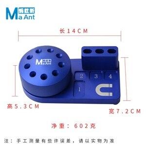 Image 3 - Caja de almacenamiento de herramientas con destornillador magnético multifunción, componentes, clasificación de caja de piezas, soporte de destornillador, estante de almacenamiento de escritorio