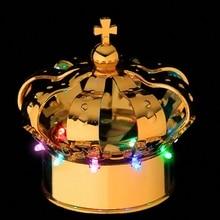 D100mm*H105mm Nightclub champagne bottle led light crown bottle caps gold color Bar furniture Sample Promotion 4pcs/lot