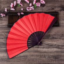 Китайский веер «сделай сам», японский простой цветной бамбуковый большой складной Ручной Веер для праздника, домашние праздничные принадл...