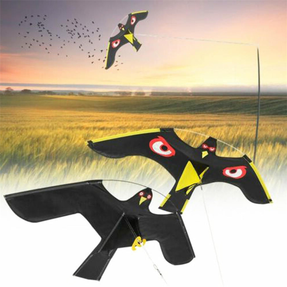 VOGVIGO Bird Scarer Emulation Flying Hawk Drive Bird Kite For Garden Scarecrow Yard Home Breeze Easy To Fly Bird Repeller