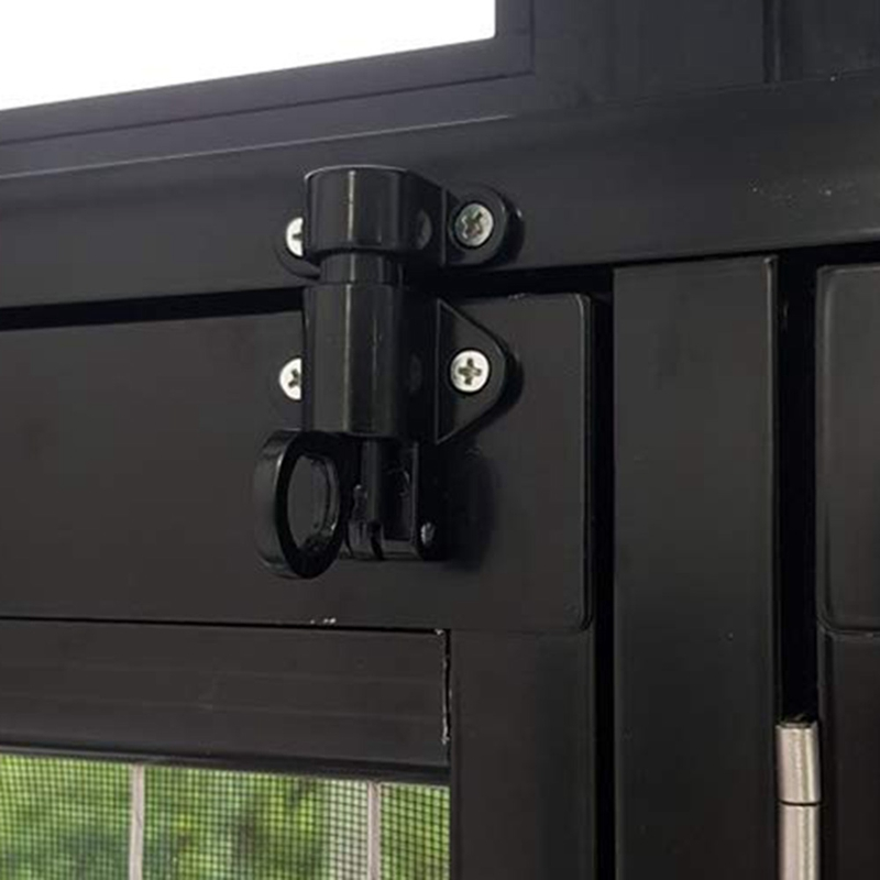 Hot XD-Aluminum Alloy Security Automatic Window Gate Lock Spring Bounce Door Bolt Latch