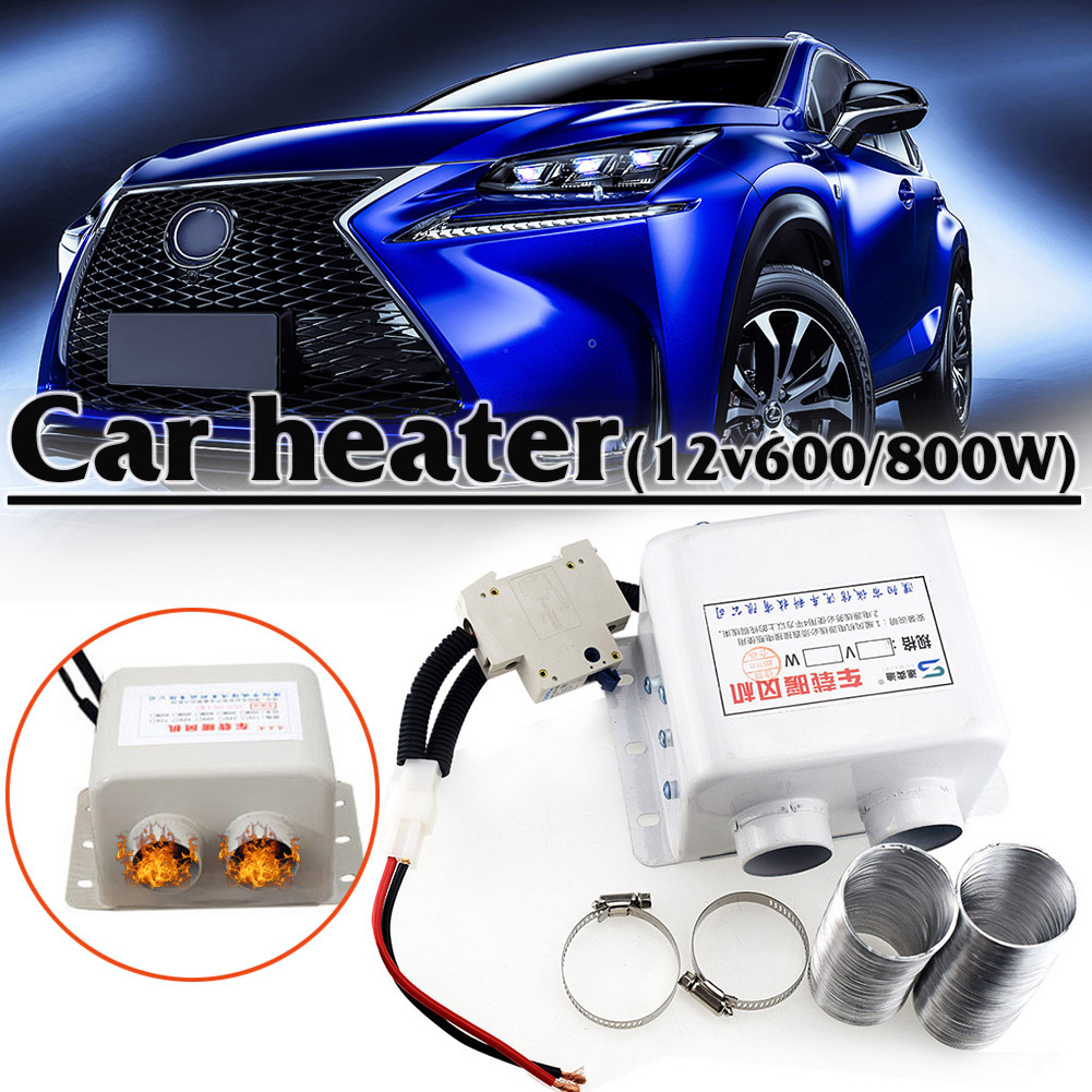 12V Car Heater 600W/800W Car Glass Defroster Window Heater Winter Auto Air Outlet 2 Warm Dryer In Car Goods Interior Accessories