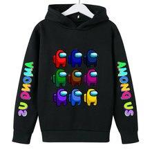 Menino/crianças jogo entre nós hoodie crianças manga comprida camisola primavera inverno topos casaco unissex solto pulôver crianças roupas