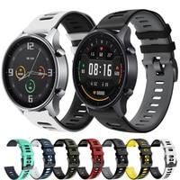 Per Xiaomi MI Watch cinturino a colori a sgancio rapido cinturino sportivo cinturino in Silicone 22 mm cinturino per Amazfit Stratos 3 2 ремешок