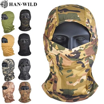 Airsoft Camouflage Balaclava Full Face Mask for CS Wargame Cycling Hunting Army Bike Military Helmet Liner Tactical Sunshade Cap