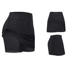 Tennis-Skirts Inner-Shorts Yoga Fitness Running Women with Pockets Elastic