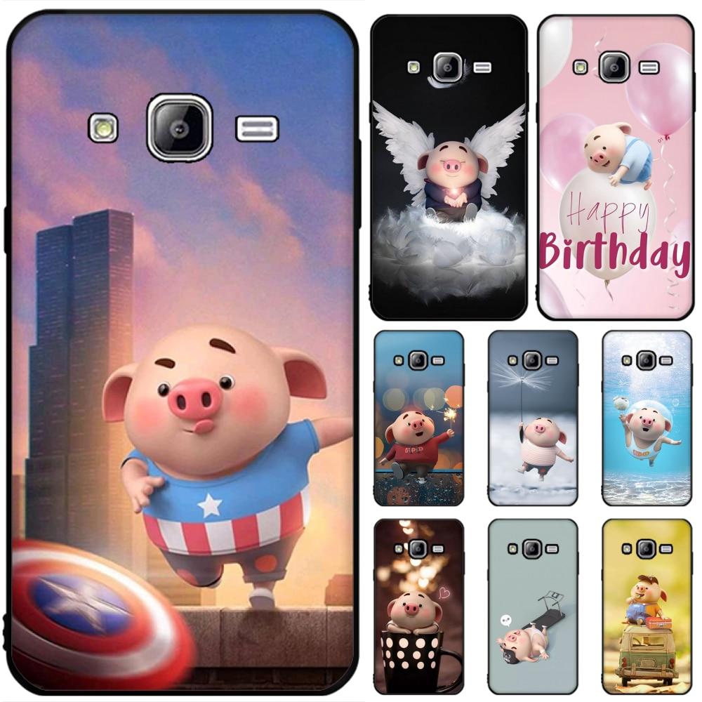 Baweite Cute Pig Wallpaper Phone Case For Samsung J6 Prime 7 Plus Peime J7 Neo J8 J6plus J7 Duo 2018 2019 Half Wrapped Cases Aliexpress