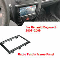 2 Din Auto Stereo Radio Fascia Rahmen Panel Adapter Abdeckung Trim für Renault Megane II 2003-2009