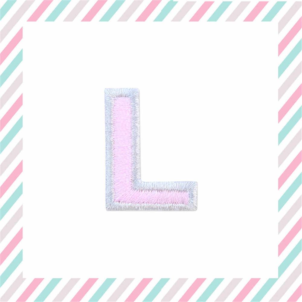Zilveren Rand Engels Letters Geborduurde Patches Applique Iron On Letters Voor Kleding Tassen Hoge Kwaliteit Naam Patch
