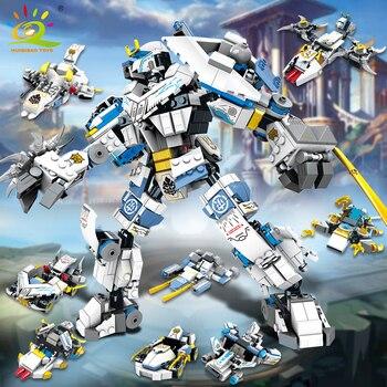 """Конструктор HUIQIBAO """"Робот-трансформер"""", 950 шт., 8 в 1 6"""