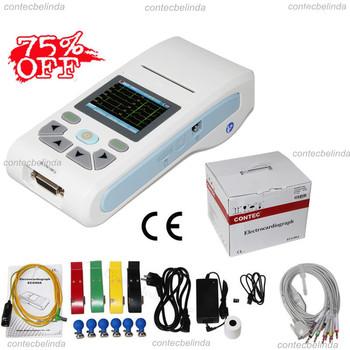 CONTEC ECG90A ręczny cyfrowy pojedynczy kanał ekg + darmowe oprogramowanie bezpłatna wysyłka tanie i dobre opinie CHINA Elektroniczne urządzenie do pomiaru tętna