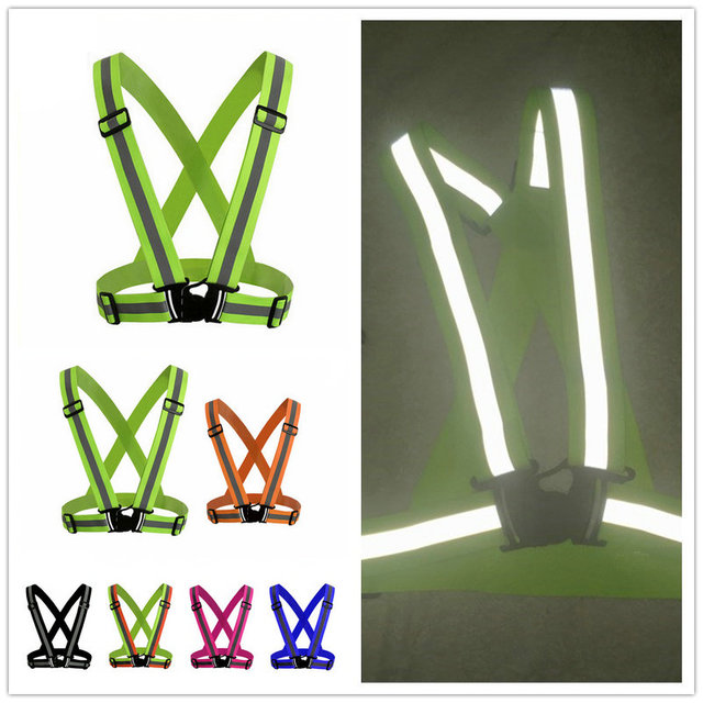 Highlight Reflective Straps Night Running Riding Clothing Vest Adjustable Safety Vest Elastic Band For Adults and Children 1