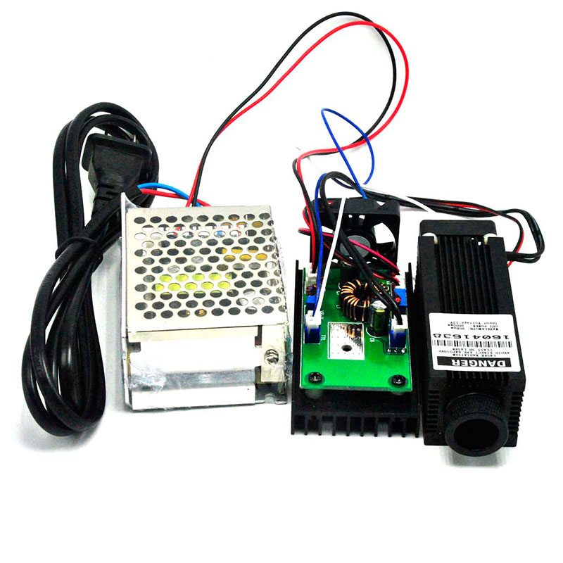 Focusable 800mW-1W 808nm Infra-red Laser Diode IR Dot Module 33mm*80mm W/ TTL 20KHz W 12V 3A Power Supply