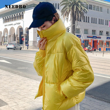 NEEDBO Down Coat Winter Oversize Snowsuit Stand Collar Womens Jackets ultra Light Parka Jacket