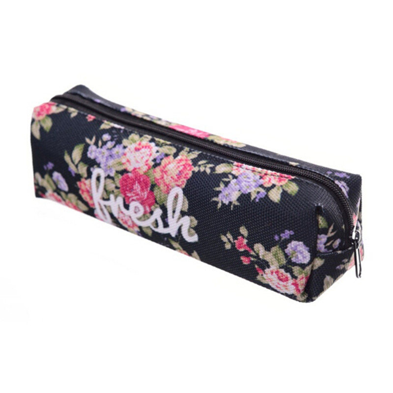 Flower Fresh 3D Print Cosmetic Bag Women Makeup Bag Kids School Pencil Bag Small Shower Pouch Organizer Bag Travel Toiletry Case