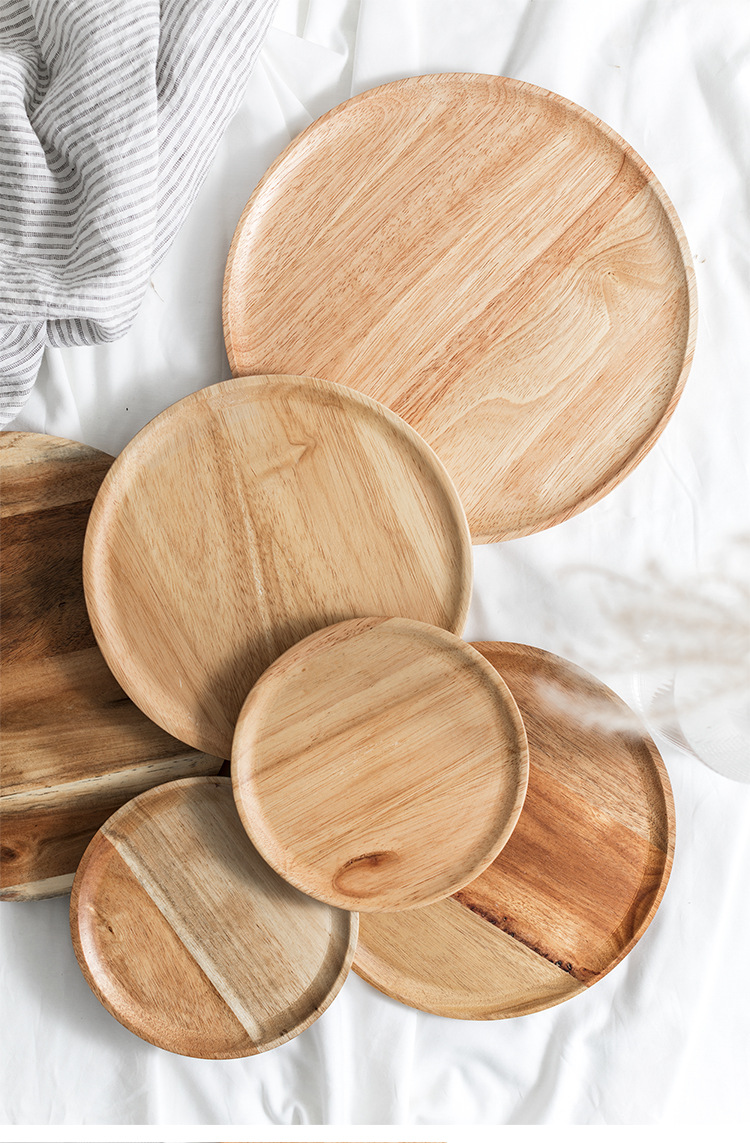 Wood-Serving-Tray-Round-Dessert-Plate-Tea-Coffee-Toast-Plates-Desserts-Wooden-Fruit-Food-Display-Platter-Home-Table-Decor-09