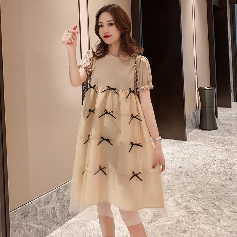 Summer Maternity Pregnant Dress Short Sleeve Loose Plus Size Dresses Clothing Pregnancy Dress Vestidos Maternidad Dresses BE50DR