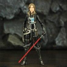 "SW 6 ""Jaina Sol Legends figurka czarna seria Model lalki kolekcjonerskiej"