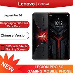 Original Lenovo Legion Pro 5G Smartphone Snapdragon 865 Plus 6.65'' 144Hz Screen 64MP Camera 5000mAh 90W SuperCharge NFC