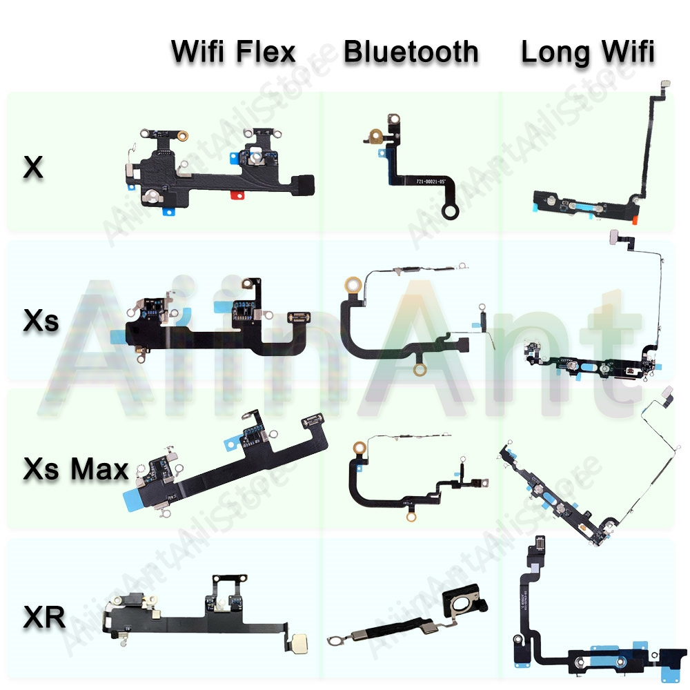 Original For IPhone X Xs Max XR Wifi Bluetooth NFC WI-FI GPS Signal Antenna Flex Cable Cover Repair Repair Parts