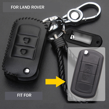 Handmade Leather Cowhide Flip Car Key Fob Case Holder Cover Bag Shell For Land Rover Range Rover LR3 Discovery Sport 2005-2011 car center console sliding shutters cup holder roller blind trim cover for land rover range rover sport 2005 2009 car styling
