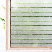 Dekorative Privatsphäre Fenster Filme für Stained Statische Glas Selbst-Adhesive Film Anti UV Getönte Glas Aufkleber Htv 3D streifen wirkung