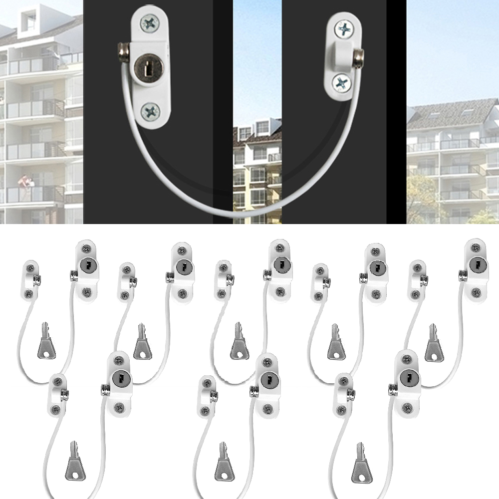 8Pcs Window Locks Children Protection Lock Stainless Steel Window Limiter Baby Safety Infant Security Window Locks Safe Products