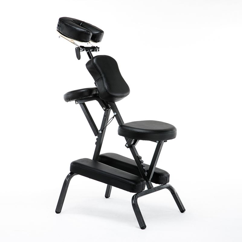 Portable Leather Pad Massage Chair Folding Adjustable Tattoo Scraping Chair With Armrest High Quality Beauty Bed