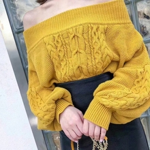 2019 autumn and winter new thick line Korean version of the loose college lazy wind hooded lantern sleeve sweater women