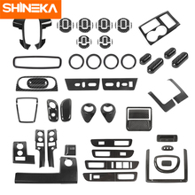 SHINEKA Carbon Fiber Stickers For Ford F150 Car Interior Decoration Cover Accessories For Ford F150 Raptor 2009-2014 Car Styling