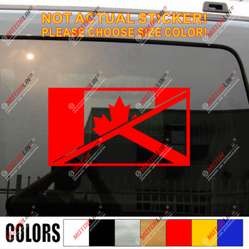 Scottish Canada Flag merged Decal Sticker Scotland Canadian Car Vinyl pick size image