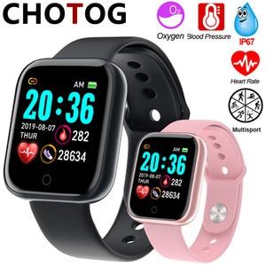 Image 1 - ساعة ذكية الرجال 1.3 اللون شاشة تعمل باللمس عداد الخطى جهاز تعقب للياقة البدنية ساعة Ip67 مقاوم للماء الرياضة Smartwatch النساء ل أندرويد IOS