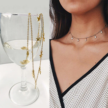 SUQI Non-Fading Stainless Steel Animal Butterfly Star Gold Women Choker Necklaces Pendants Femme Chain Jewelry Kpop Collare Gift cheap EVerLastingLove@ViVian Chokers Necklaces CN(Origin) Classic Link Chain Metal CROWN decorate Anniversary 10mm Fashion 0633