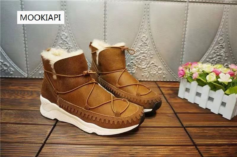 The latest snow boots of Australian brand in 2020, 100% real sheepskin, natural wool, classic and fashionable women's shoes, 3 c