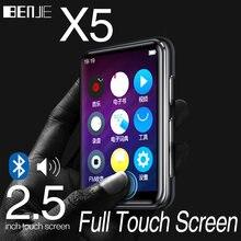 Bluetooth 5.0 MP3 odtwarzacz Benjie X5 w pełni dotykowy ekran 8GB 16GB odtwarzacz muzyczny z wbudowanym głośnikiem fm radio z nagrywaniem wideo E-book